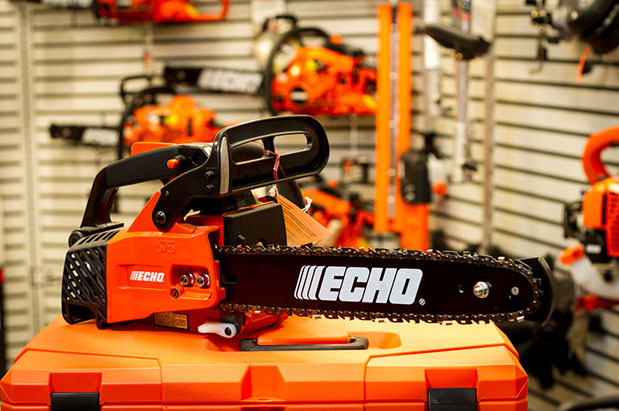 Echo chainsaws, leaf blowers and string trimmers, and parts and service of Echo products